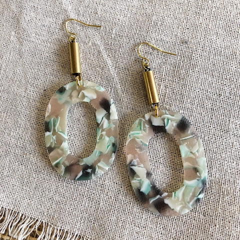 Bang Bang Bijoux // Brass Clay Earrings