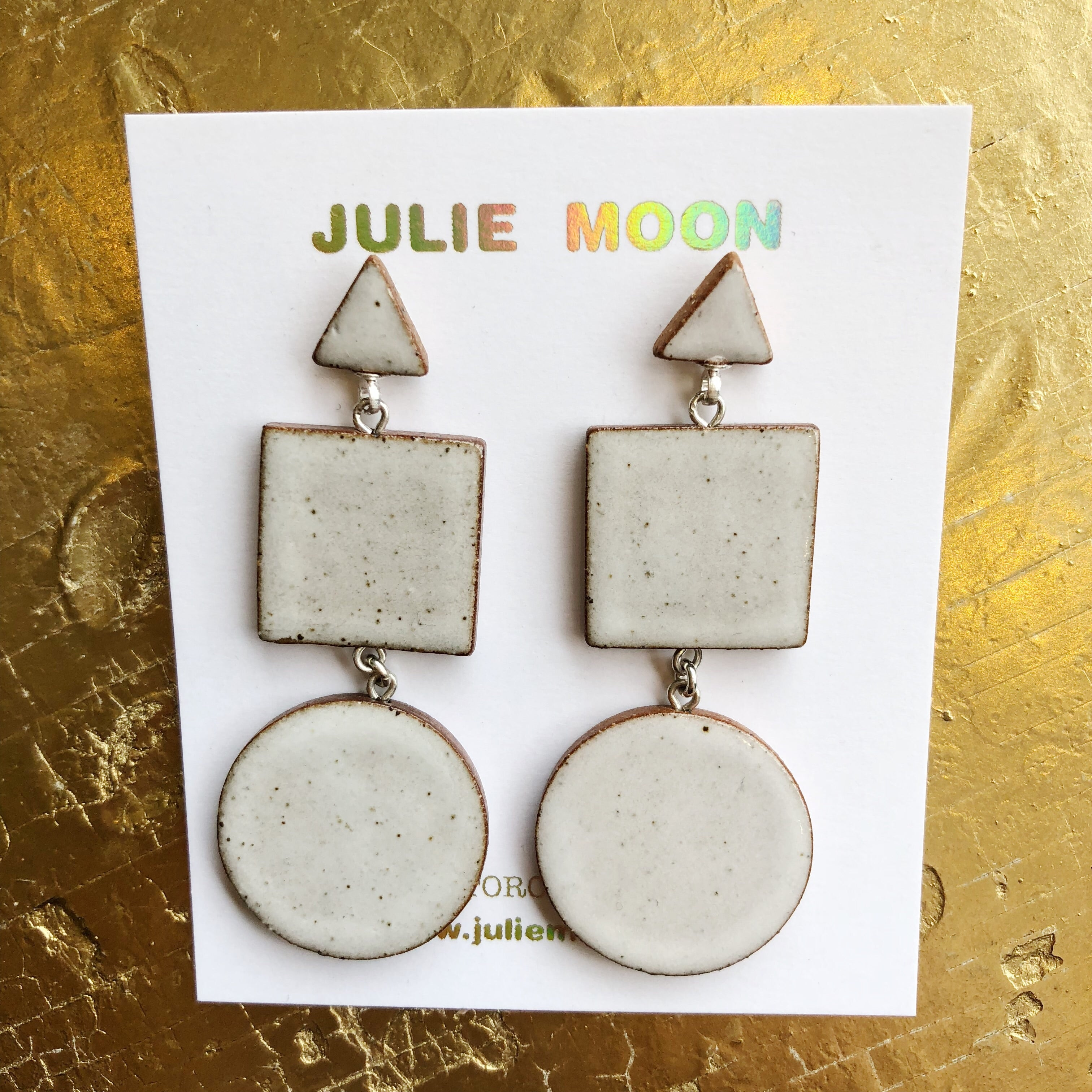 Julie Moon // Ceramic Earrings Triplet
