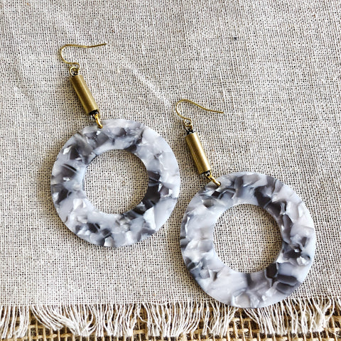 Darlings of Denmark  // Brass Acrylic Earrings