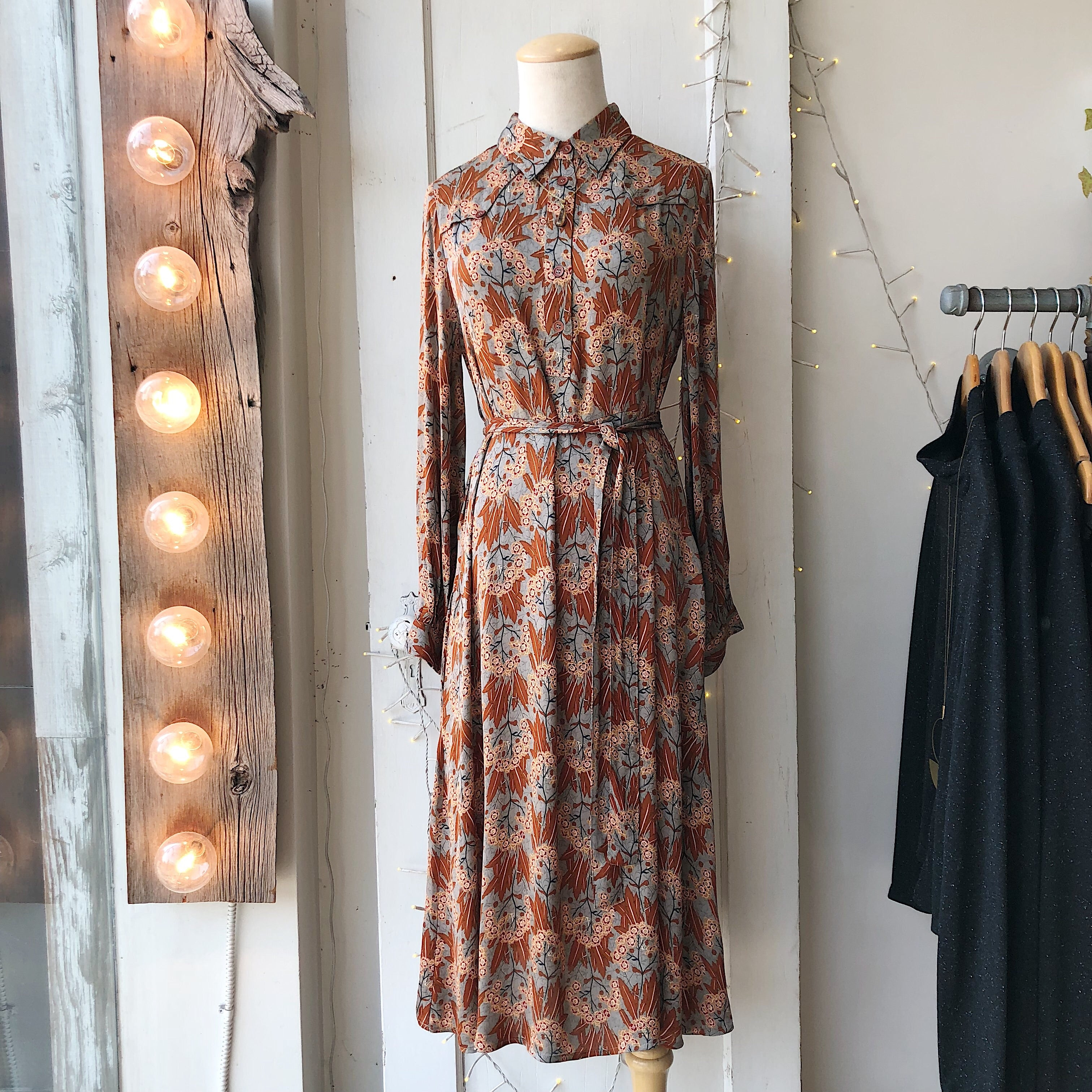 Indi & Cold // Canela Print Button-Up Dress
