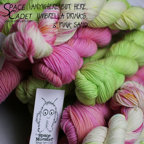 "SpaceMonsters Apr2018 Yarn in ""Anywhere But Here"""