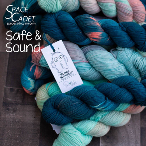 "SpaceMonsters Yarn in ""Safe"" April2020"