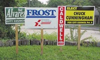"21"" x 34 1/2"" Polyboard Yard Signs"