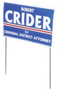 "16"" x 16"" Wire Frame Yard Signs"