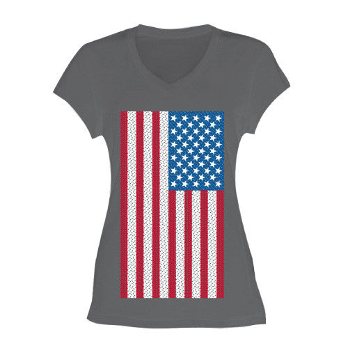 AMERICA V-NECK PARTY TEE