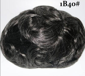 6x8 Cap Size Indian Human Hair Durable Lace Replacement System For Men All Colors