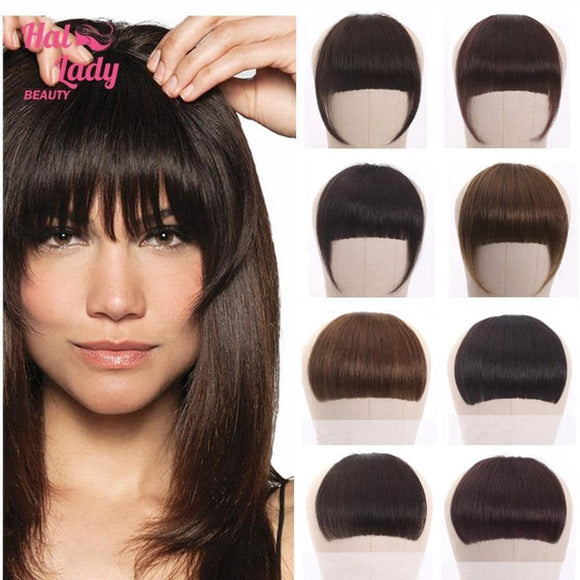 Brazilian Non Remy Human Hair Clip In Fringe -Single or Double Clip - Dark to Blonde