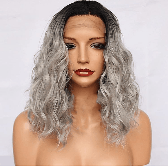 Full Lace Silver/Grey Ombre Huma Hair Wig 16