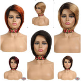 Ombre Human Remy Hair Brazilian Short Wig -HH (color options)