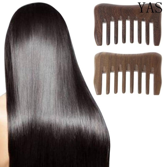 Sandalwood Wide Tooth Hair Comb Detangler