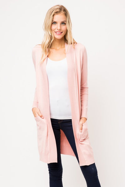 LONG CARDIGAN BLUSH PINK