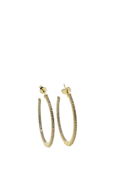 MICRO PAVE HOOPS GOLD