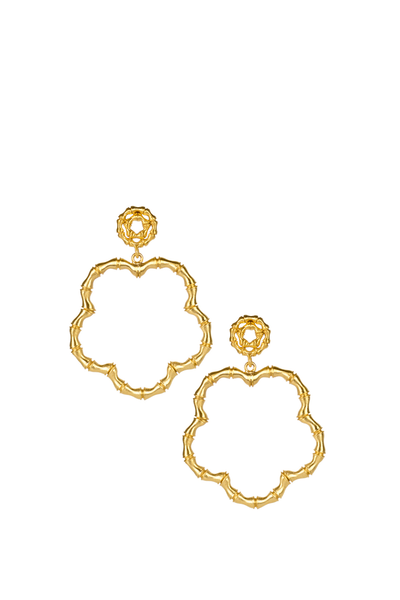 BOBBI EARRINGS GOLD BAMBOO