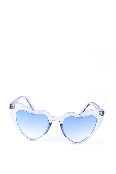 HEART SUNGLASSES BLUE CRYSTAL