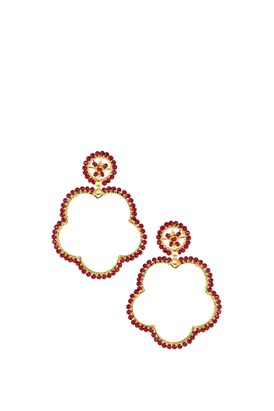BOBBI EARRINGS BURGANDY