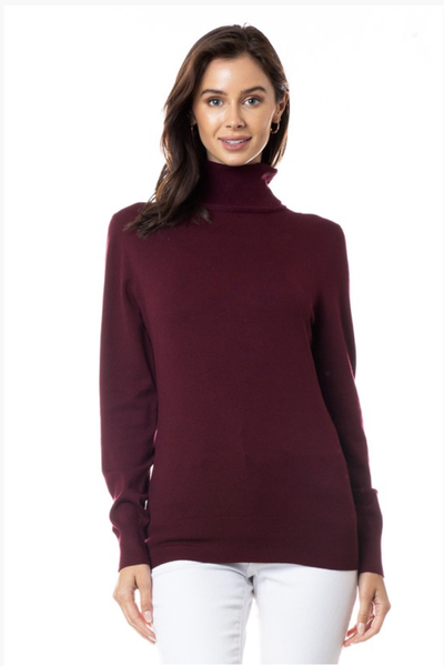 TURTLENECK SWEATER BURGUNDY
