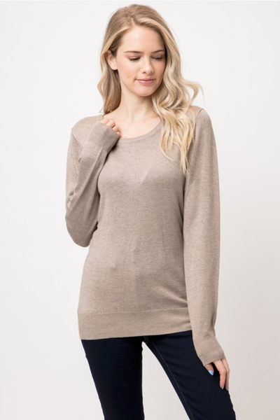 ROUND NECK SWEATER OATMEAL