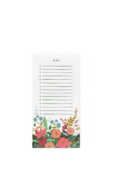 FLORAL VINES TO DO NOTEPAD