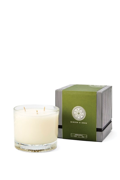 GIBSON AND DEHN NORWAY SPRUCE CANDLE 3 WICK