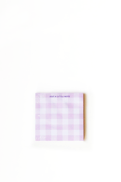 GINGHAM STICKY NOTES