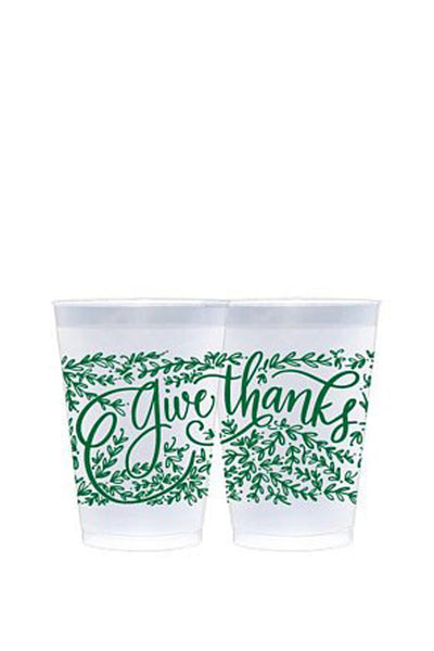 GIVE THANKS PLASTIC CUPS