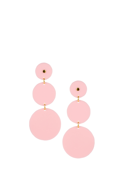 GRETA EARRINGS BLUSH ACRYLIC