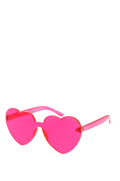 HEART SUNGLASSES HOT PINK