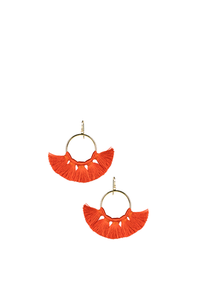 IZZY GAMEDAY EARRINGS BURNT ORANGE