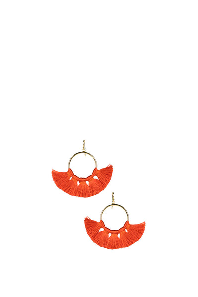 IZZY BURNT ORANGE GAMEDAY EARRING
