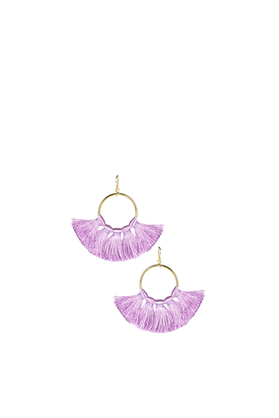 IZZY GAMEDAY EARRINGS LAVENDER