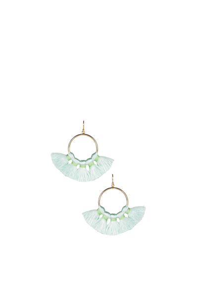 IZZY GAMEDAY EARRINGS SEAFOAM