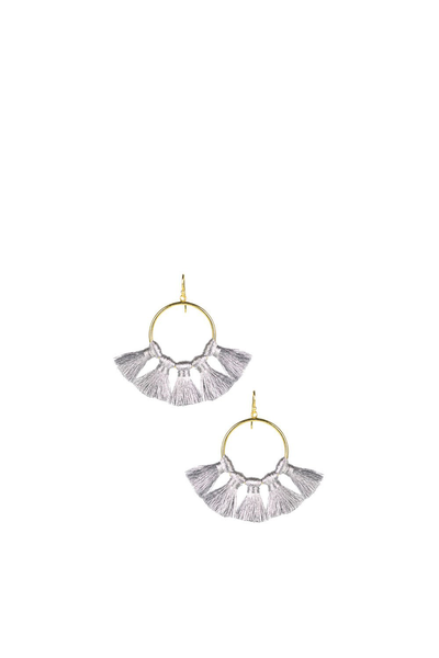IZZY GAMEDAY EARRINGS SILVER
