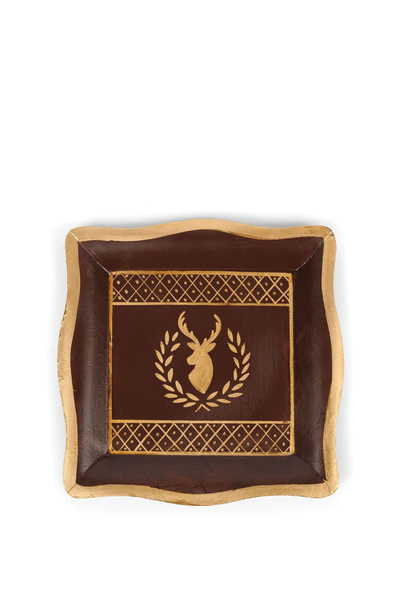 DEER LAUREL SOCIAL TRAY BROWN