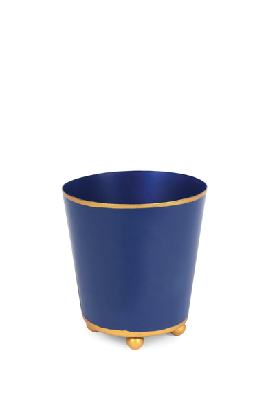 COLOR BLOCK ROUND CACHE POT NAVY 4""