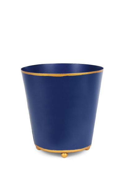 COLOR BLOCK ROUND CACHE POT NAVY 6""