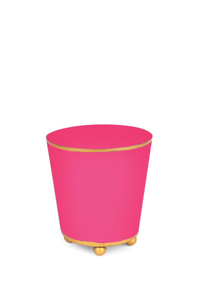 COLOR BLOCK ROUND CACHE POT HOT PINK 4""