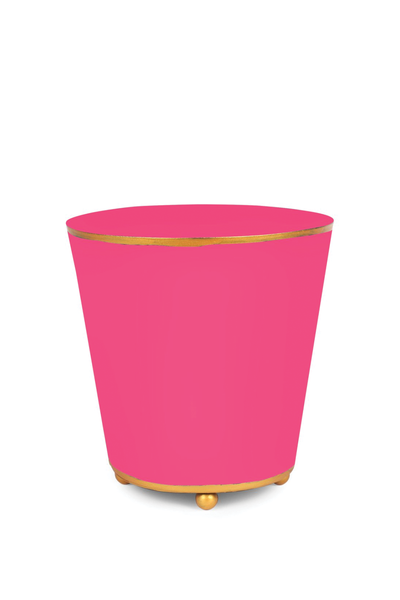 COLOR BLOCK ROUND CACHE POT HOT PINK 6""