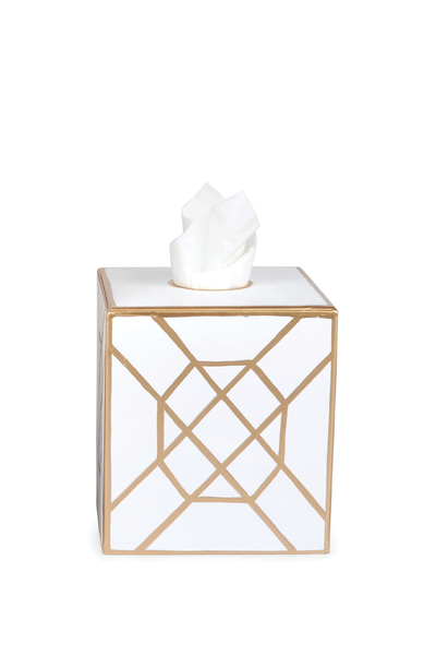 DON'T FRET TISSUE BOX COVER WHITE