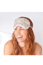 SATIN SLEEP EYE MASK LEOPARD