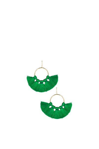 IZZY GAMEDAY EARRINGS EMERALD