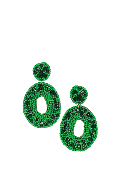 LISI LERCH GINNA EARRING EMERALD