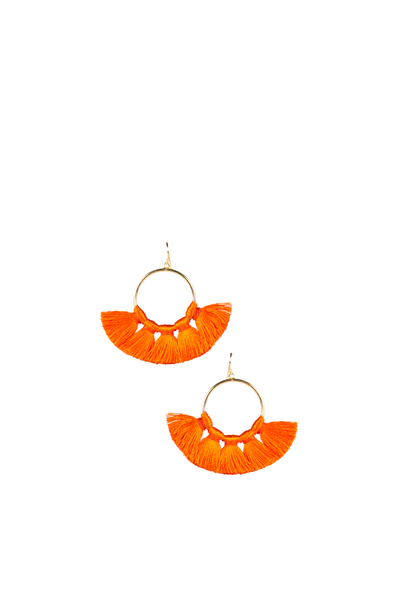 IZZY GAMEDAY EARRINGS ORANGE