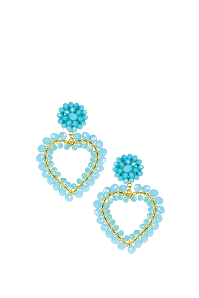 LISI LERCH ROXY EARRINGS TURQUOISE