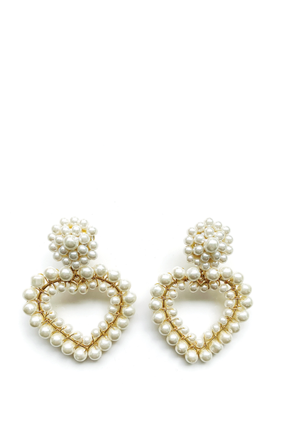 LISI LERCH ROXY EARRINGS PEARL