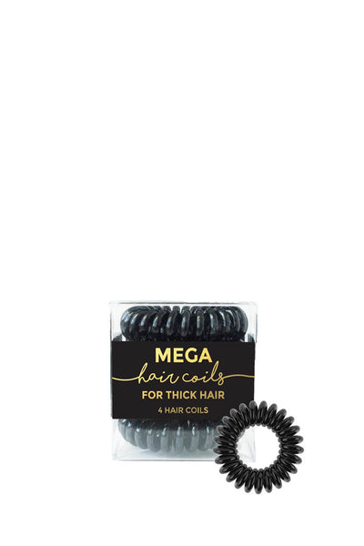 4 PACK MEGA HAIR COILS BLACK