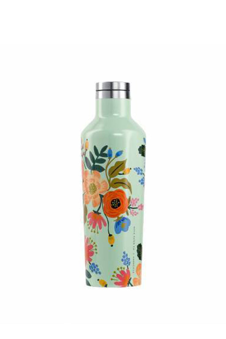 LIVELY FLORAL RIFLE PAPER CORKCICLE CANTEEN 16 OZ.