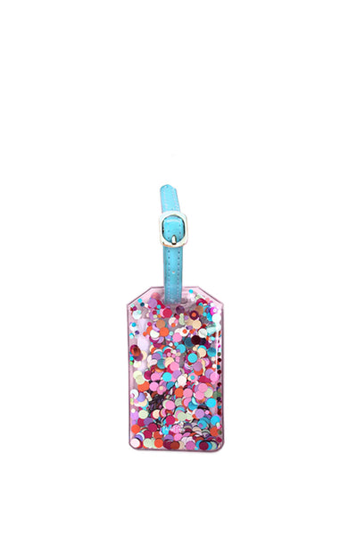 MULTICOLORED CONFETTI LUGGAGE TAG