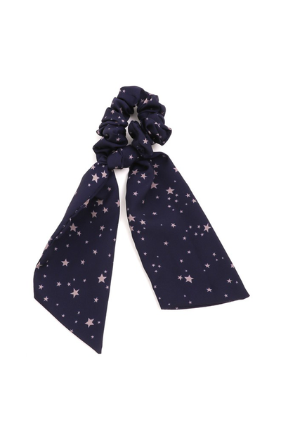 STARS HAIR TIE SCRUNCHIE NAVY