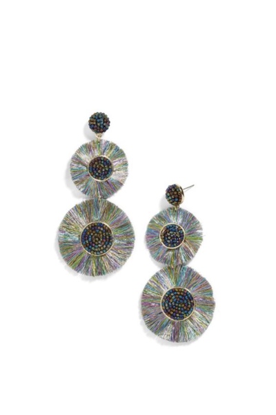 MARIETTE FRINGE DROP EARRINGS OILSLICK