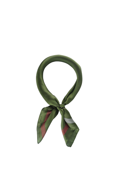 SOLID WITH LINE EDGE SCARF OLIVE